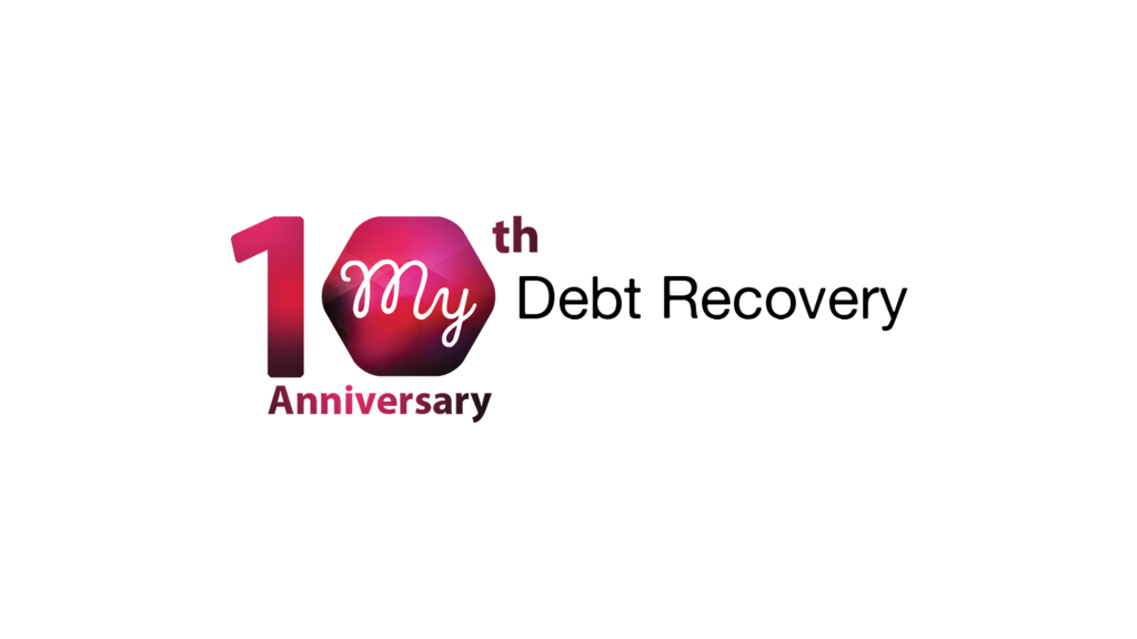 My Debt Recovery 10th Anniversary logo